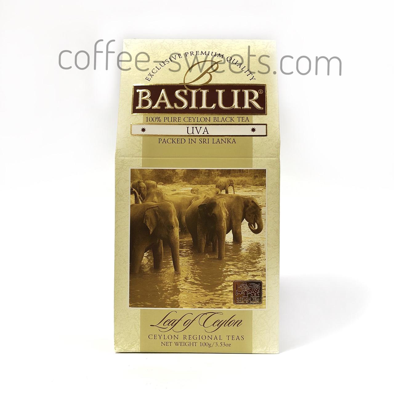 Чай черный Basilur UVA коллекция Лист Цейлона байховый 100г