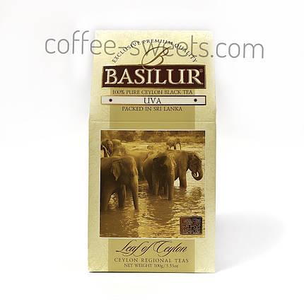 Чай черный Basilur UVA коллекция Лист Цейлона байховый 100г, фото 2