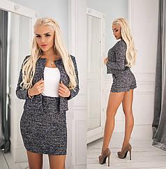 Костюм тройка пиджак + шорты + юбка в расцветках 702133