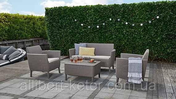 Набор садовой мебели Salemo Set Cappuccino ( капучино ) из искусственного ротанга