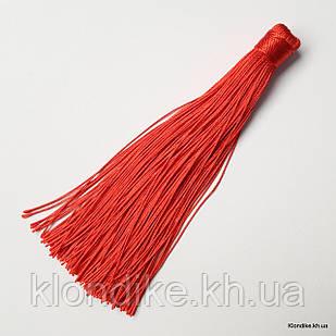 Кисточки из ниток, шёлковые, 12 см, Цвет: Красный