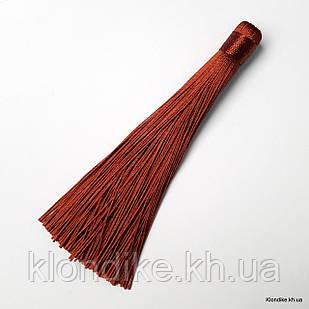 Кисточки из ниток, шёлковые, 12 см, Цвет: Каштановый