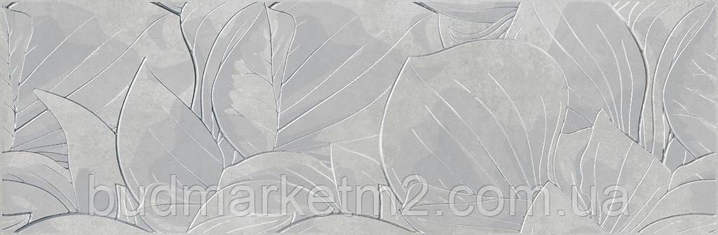 Плитка Opoczno Flower Cemento Light Grey Inserto Декор 240х740