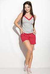 Пижама женская 107P014 (Серо-малиновый)