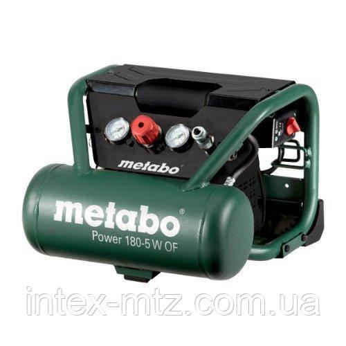 Безмасляний компресор поршневий Metabo Power 180-5 W OF