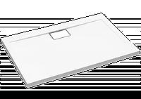 Polimat Прямоугольный душевой поддон напольный VEGAR белый 100х90 см