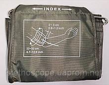 Манжета INDEX нейлонова для дорослих з кільцем. Окружність руки від 22 до 32 див. на 1 трубку