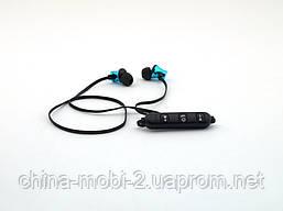Sports headset беспроводные наушники косые с Bluetooth, голубые, фото 2