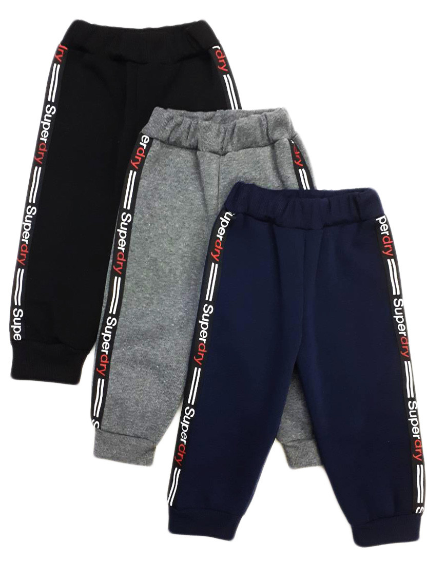 Детские спортивные штаны, теплые (3-х нитка)