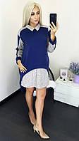 Женское стильное платье - туника  МЭ256/1 (бат)