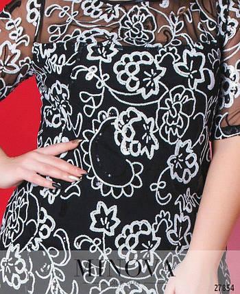 """Великолепное женское платье с пайетками """"Х/б на Подкладке"""" 48, 50, 52 размер батал, фото 2"""