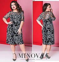 """Великолепное женское платье с пайетками """"Х/б на Подкладке"""" 48, 50, 52 размер батал"""