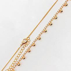 Ожерелье Xuping Jewelry 38/42 см медицинское золото, позолота 18К. А/В 4257