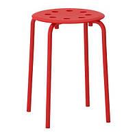 "IKEA ""МАРИУС"" Табурет, красный"