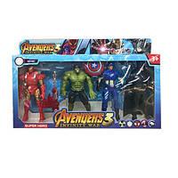 Набор Супергероев Marvel 4шт