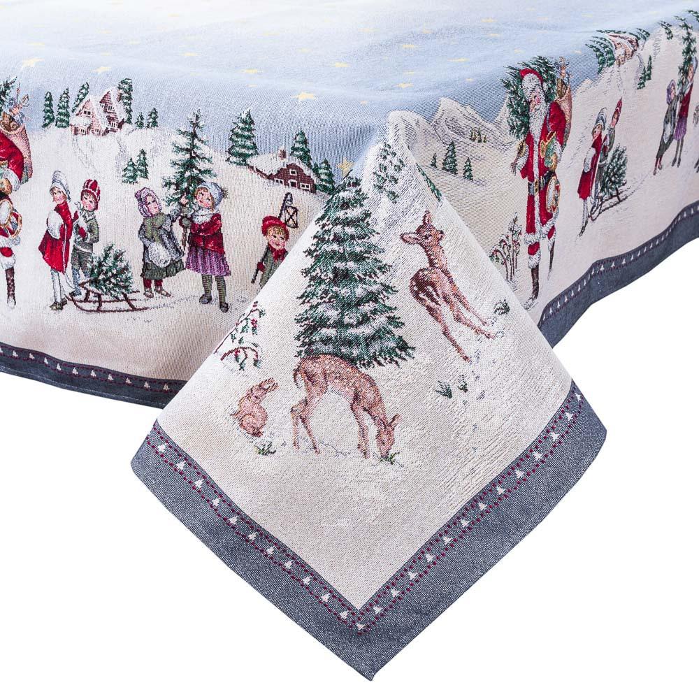 Скатерть новогодняя гобеленовая 97 х 100 см