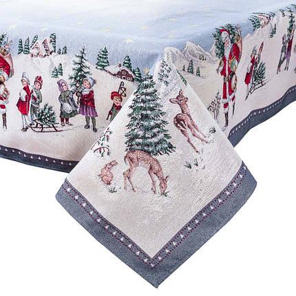 Скатерть новогодняя гобеленовая 97 х 100 см, фото 2