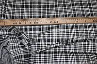"""Ткань трикотаж зимний, плотный,  стрейч, """"клетка черно белая""""   пог. м. № 182, фото 1"""
