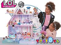 Лол Зимовий Особняк. Лол Дом Зимнее Шале с семьей кукол. L.O.L. Surprise! Winter Disco Chalet