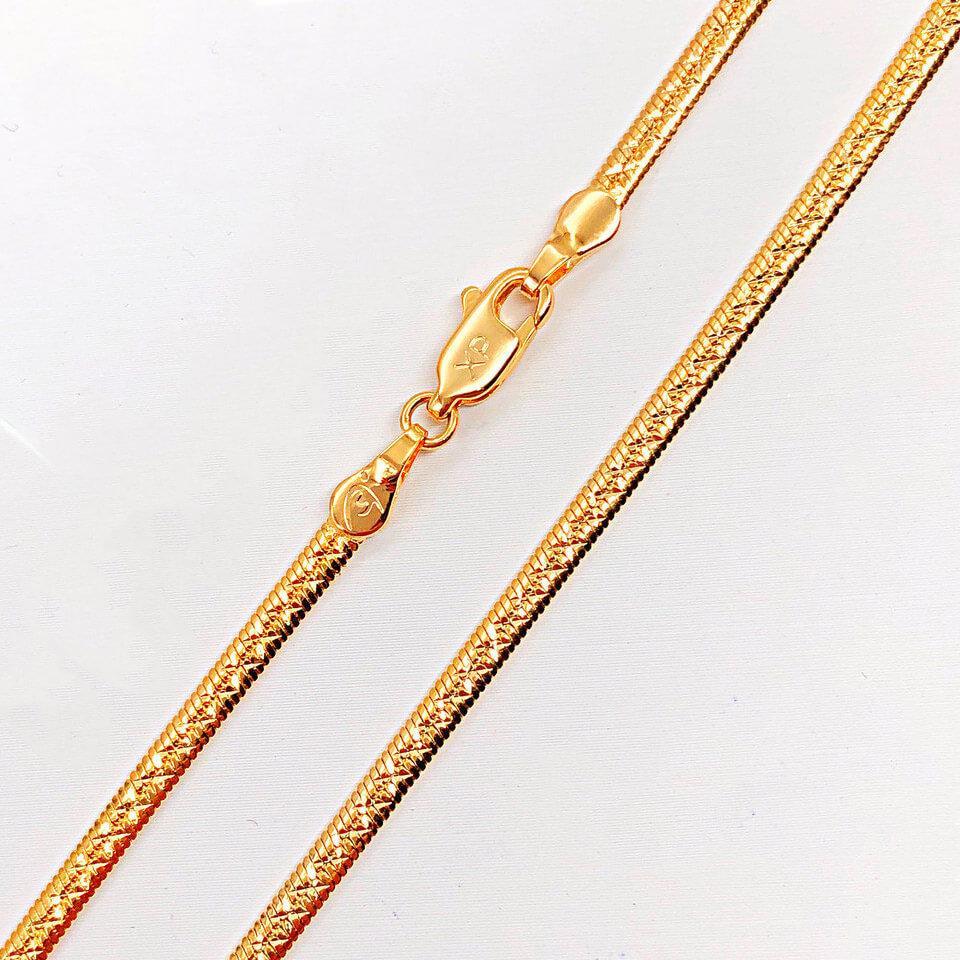 """Цепочка Xuping Jewelry 50 см х 2,5 мм """"Лента с насечками"""" медицинское золото, позолота 18К. А/В 4261"""