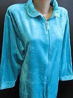 Однотонные велюровые халаты для женщин., фото 1