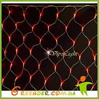 КРАСНЫЙ Светодиодная Гирлянда сетка на окно NET LIGHT 2.2х1.2 м