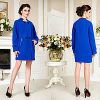 Женское демисезонное Пальто  свободного кроя F 759759 Синий