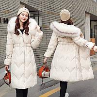 Женское пальто пуховик большие размеры Новейшая модная коллекция (NORI - 00102)