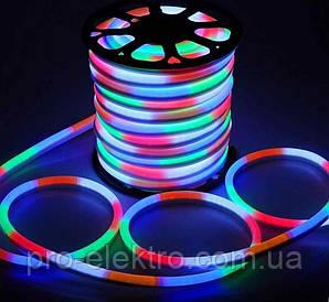 Светодиодный NEON 12V smd 5050 120° LEDs/m60   10*20мм IP65 RGB