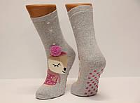 Женские носки махровые ЕКМЕН ЛП с тормозами и бомбонами, фото 1