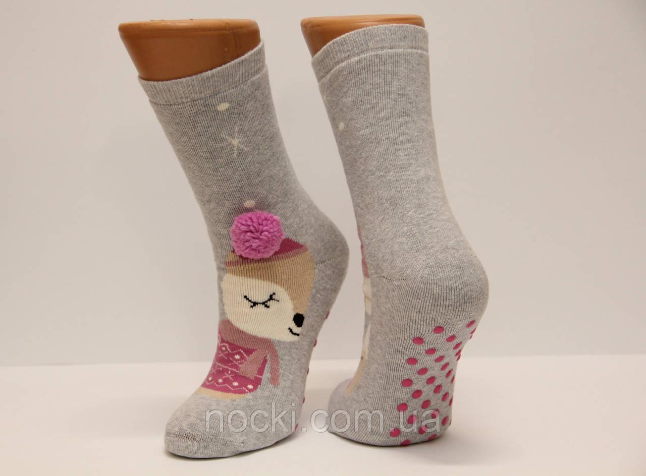 Женские носки махровые ЕКМЕН ЛП с тормозами и бомбонами