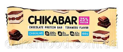 Протеиновый батончик Chikabar, Тирамису с молочной начинкой, Chikalab