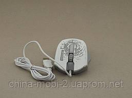 Pioneer XG73 computer mouse мышка компьютерная проводная с подсветкой мышь, белая, фото 3