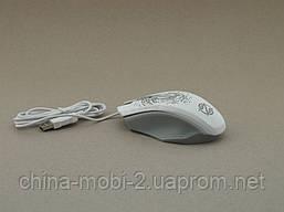 Pioneer XG73 computer mouse мышка компьютерная проводная с подсветкой мышь, белая, фото 2