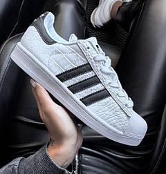 Женские кроссовки Adidas Superstar Animal 36-40рр. Живое фото (Реплика ААА+)