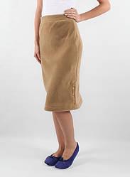 Теплая флисовая юбка