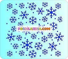 Трафарет для пряників Сніжинки №3
