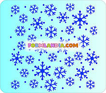 Трафарет для пряников Снежинки №3
