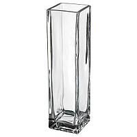Ваза стеклянная  Квадрат, высота 18 см