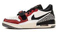 Мужские кроссовки Nike Air Jordan Legacy 312 Low White Red Grey (найк аир джордан 312, белые/красные/серые)
