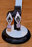 Серьги серебро и золото, фото 3