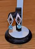 Серьги серебро и золото, фото 4