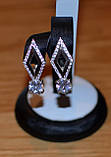 Серьги серебро и золото, фото 5