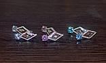 Серьги серебро и золото, фото 6