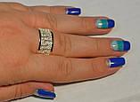 Серебряное кольцо с золотом, фото 3