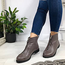 Коричневые кожаные ботинки, фото 2