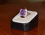 Кольцо серебряное 925 пробы с накладками золота 375 пробы, фото 2