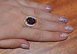 Кольцо серебряное 925 пробы с накладками золота 375 пробы, фото 4