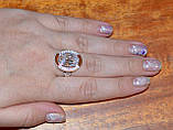 Кольцо серебряное 925 пробы с накладками золота 375 пробы, фото 6