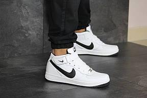 Высокие подростковые,женские кроссовки Nike Air Force,белые с черным 40,41р, фото 2